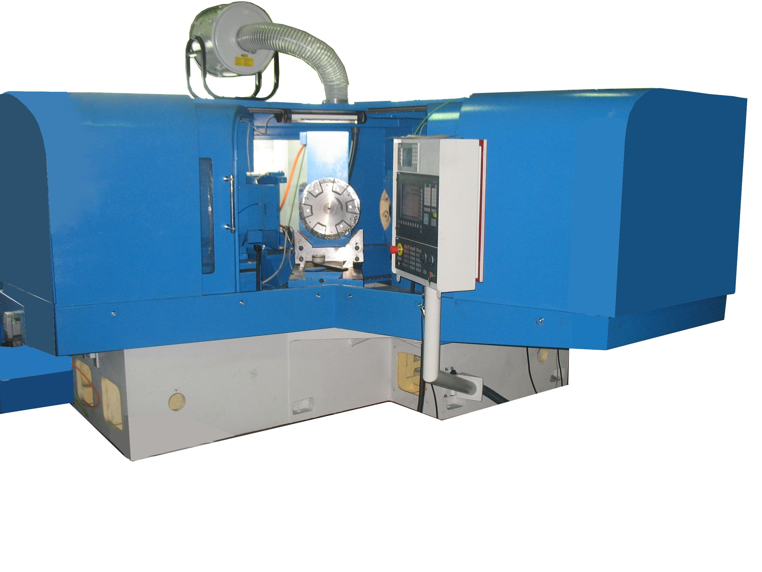 MACHINE FOR GRINDING THE FACES OF MIDDLE SUPPORTING SKIRTING OR EXTREME SKIRTINGS OF ROLLER-SPHERICAL BEARINGS INWARD RING WITH  CNC OSHP-8